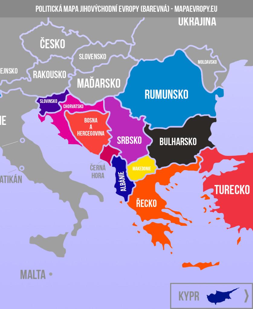 Mapa jihovýchodní Evropy