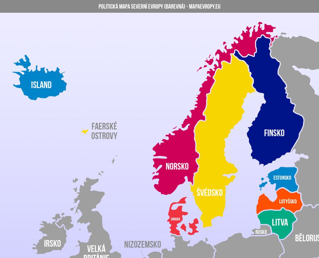 Mapa severní Evropy