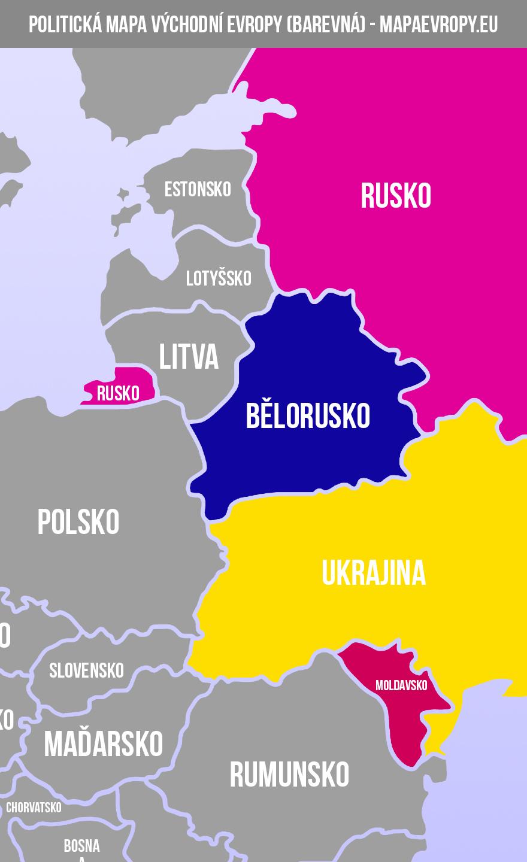 Mapa východní Evropy