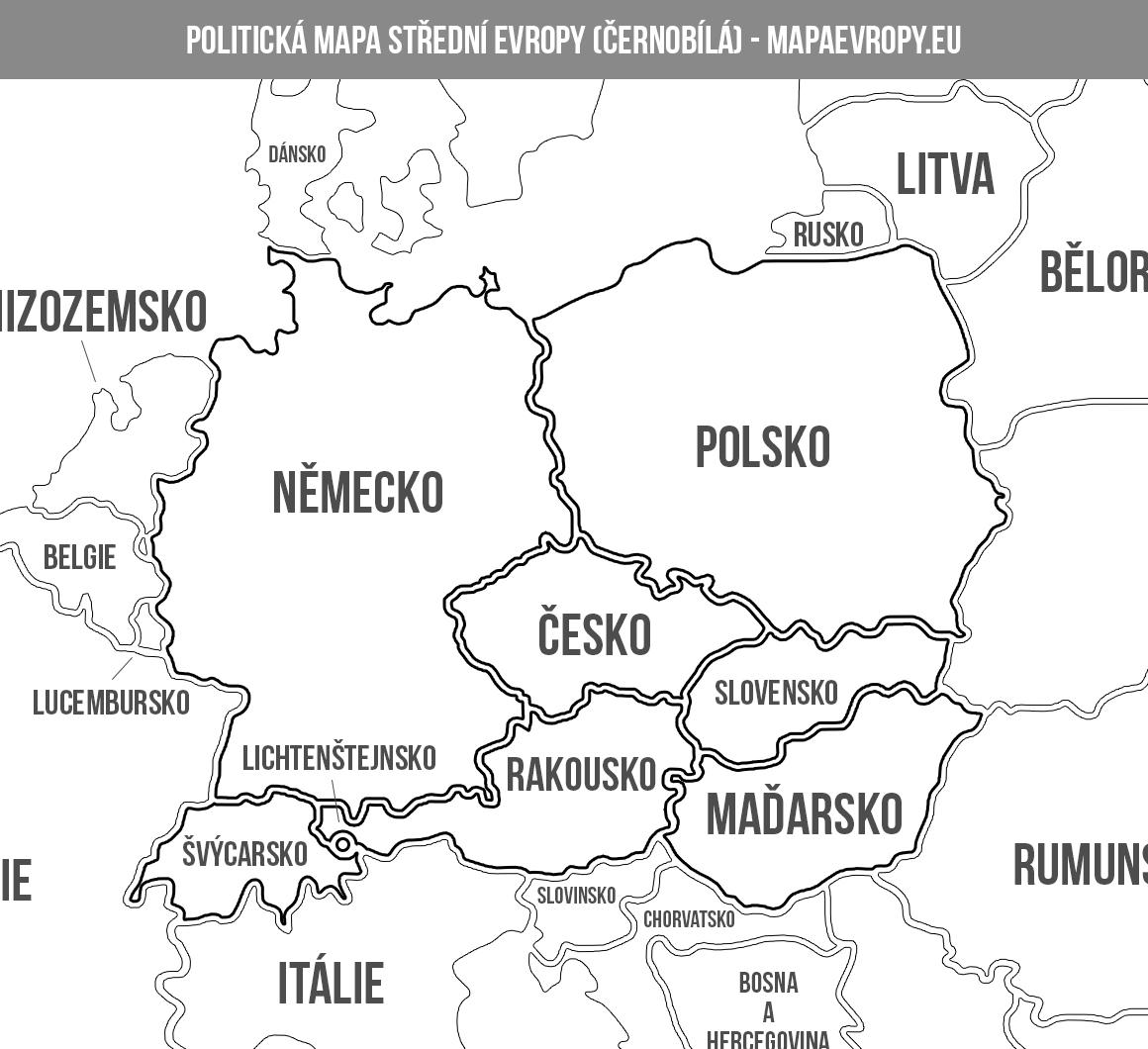 Slepa Mapa Evropy Staty