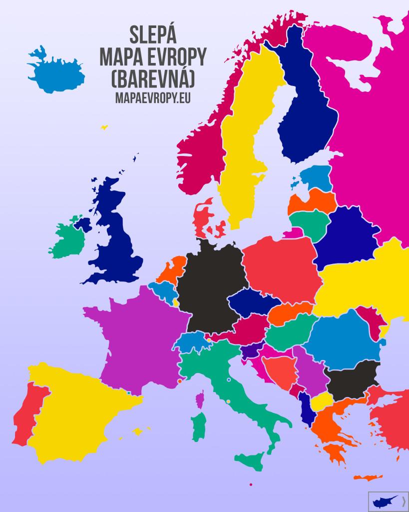 Slepá mapa Evropy