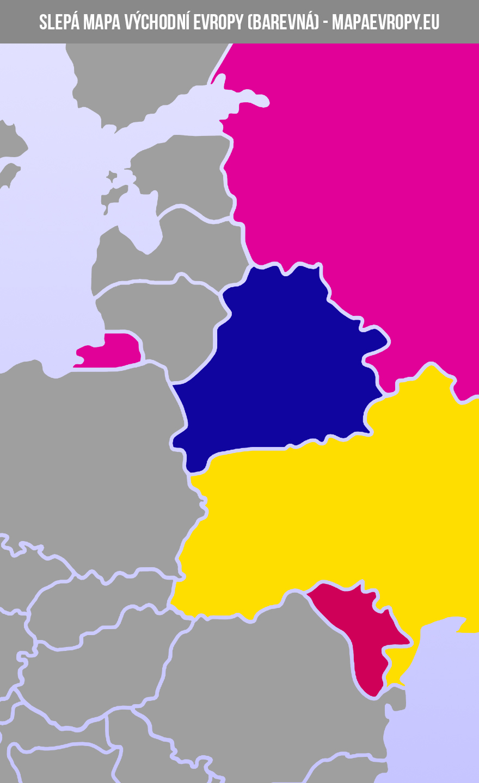 Slepá mapa východní Evropy