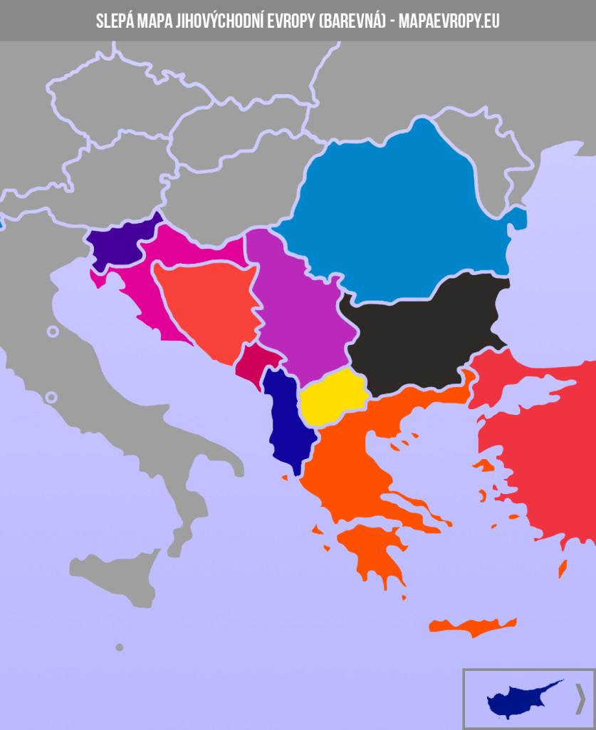 Slepá mapa jihovýchodní Evropy