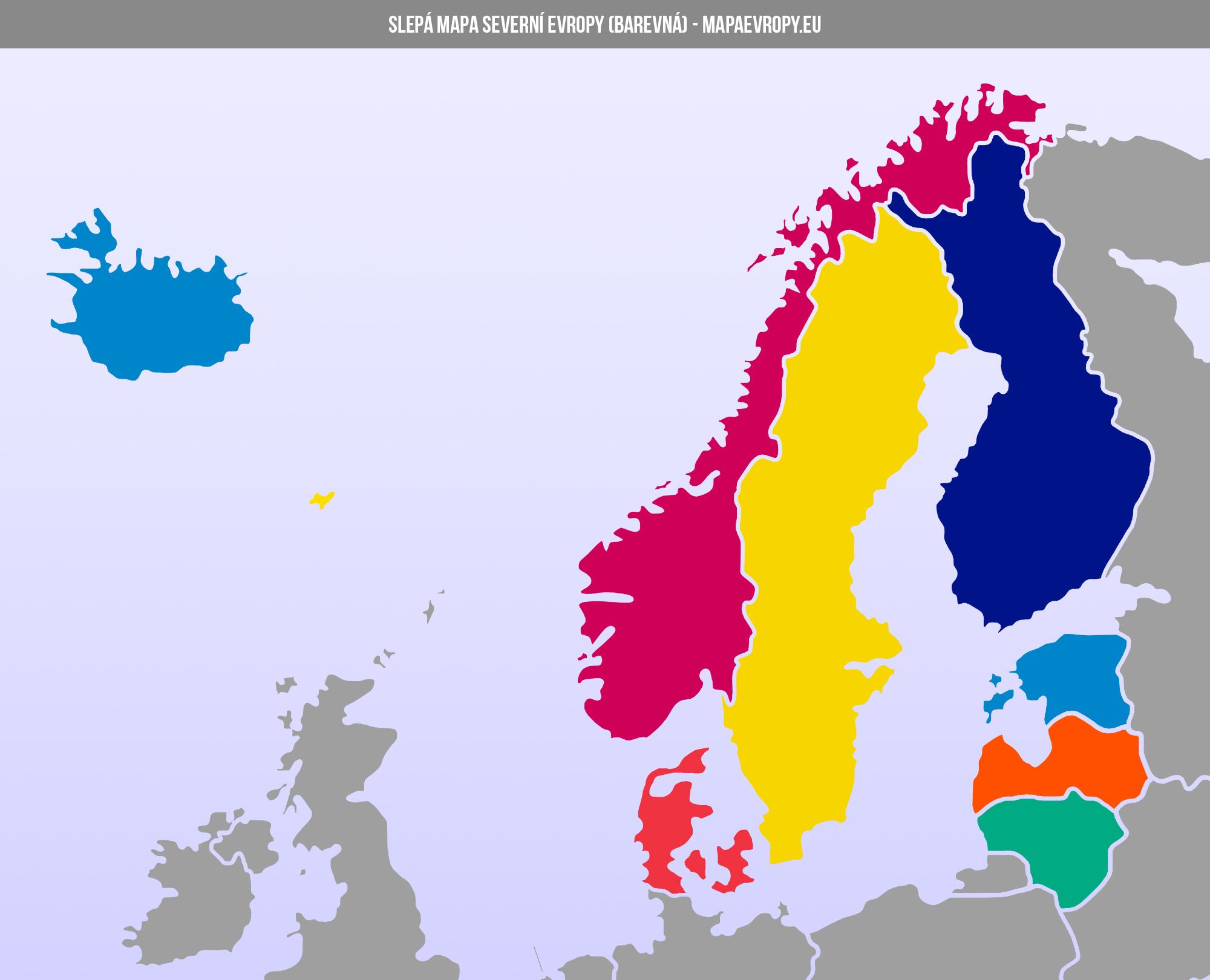 Mapa Severni Evropy Politicka A Slepa Mapaevropy Eu