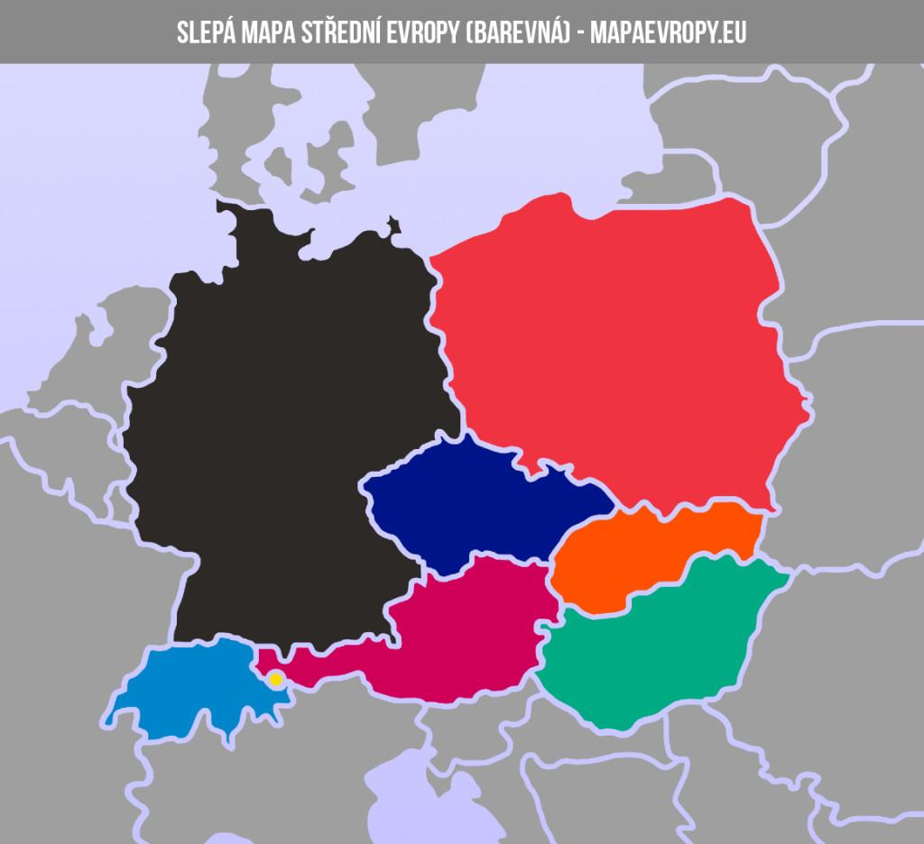 Slepá mapa střední Evropy