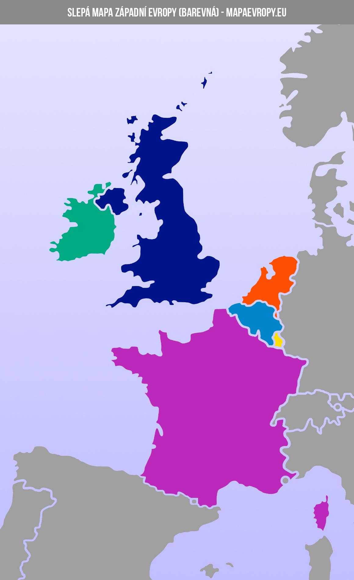 Slepá mapa západní Evropy